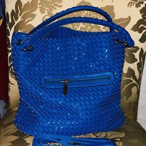 Handbags - Beautiful Braided Blue Handbag